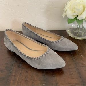Athena Alexander Gray Suede Flats Loafers Size: 10